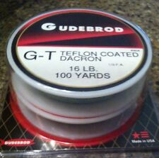 2 Connected Spools GUDEBROD Braided Dacron Fishing Line Teflon-coat 16 Lb 200 yd