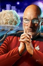 Greg Horn SIGNED Star Trek TNG Art Print  ~ Captain Jean-Luc Picard & Tribble