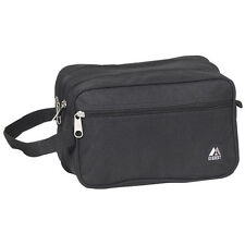 Everest Dual Compartment Toiletry Travel Bag - Black