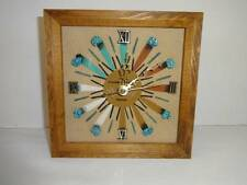 New Mexico Sand Art Clock Wall Desk Shelf Jim Million Enterprises Woodcrafts