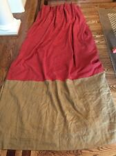 """Amazing Custom Drapes Curtains Rusty Red & Tan/camel 93""""X54"""" Heavy Lined"""