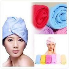 Microfiber Bath Bathing Quick Dry Hair Magic Drying Turban Wrap Towel Hat Cap
