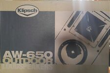 Klipsch AW-650 All- Weather Outdoor Speaker Pair White-New In Box-Free Shipping!