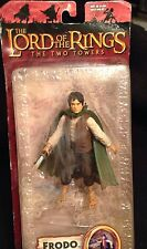 Lord of The Rings FRODO Two Towers Light Up Sting Sword Figure Toy 2003 NEW
