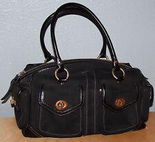 RARE! VINTAGE COACH Bag w/ Patent Leather Trim & Brass Accents Purse/ Handbag