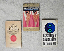 Psychology of Sex, Sex & Temperament, and The Art of Loving *3 vintage paperback
