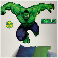INCREDIBLE HULK wall stickers MURAL Marvel Avengers decal party decoration