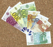Specimen Euro Banknotes Full Set Play Money for Kids