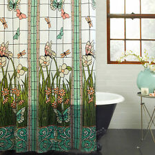 Mainstays Stained Glass Meadow PEVA Shower Curtain ORIGINAL