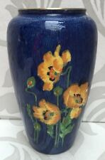 Lovely Early Royal Winton Art Deco Lustre Vase Poppies Poppy Design Grimwades