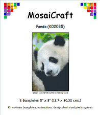 MosaiCraft Pixel Craft Mosaic Art Kit 'Panda' (Incl. Dove Tail Clips)