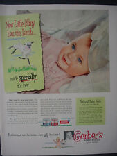 1951 Gerber's Baby Food Mary had a little Lamb Cute Vintage Print Ad 12337