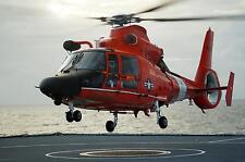 Royal Navy RFA Wave Knight Caribbean US Coastguard Dolphin Helicopter 12x8 Photo