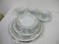 NORITAKE CHINA  SAVANNAH NEW SERVICE FOR 3 DINNER DESSERT SALAD PLATES CUPS SAUC