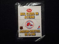 RARE 1981-1982 POST CEREAL PROP UP NHL HOCKEY CARD REAL CLOUTIER SEALED MINT
