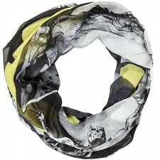 Batman DC Comics Iconic Black and Yellow Infinity Viscose Scarf Scarves