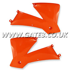 KTM 250EXCF EXC-F 250 2003-2004 ORANGE RADIATOR RAD SCOOPS ENDURO TRAIL