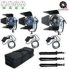 As Arri 300+650W+1000W Fresnel Tungsten Spot light + Case+ Stands*3+Dimmers*3Kit