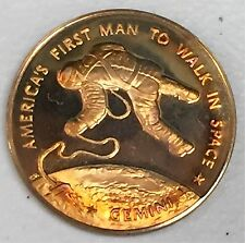 C2226    FRANKLIN  MINT  BRONZE  MEDAL,  NASA,  GEMINI  4