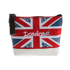 Fashion Union Jack Embroidered Admission Package Canvas Coin Purse Hand Bag