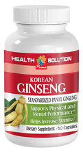 Strong Male Sex Boost Capsules - Korean Ginseng 350mg - Fresh Ginseng Root 1B