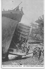 WWII Vendor Arcade / Mutoscope Card- US Warship- LST Ready for Action- Offloads
