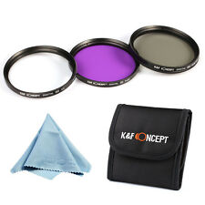 67mm Lens Filter Kit UV protector SLIM CPL Circular Polarizing Set FLD For canon