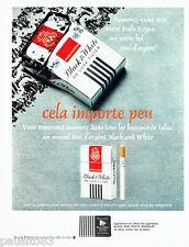 PUBLICITE ADVERTISING 086  1967  Cigarettes Black & White étui argent