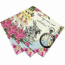 TALKING TABLES TRULY ALICE IN WONDERLAND 20 X 3PLY NAPKINS MAD HATTER TEA PARTY