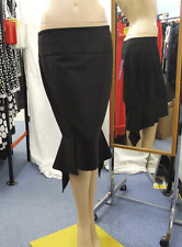 "Joseph Ribkoff BNWT UK 10 Unusual Black Mermaid Effect Eve Skirt with ""Wings"""