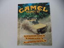 advertising Pubblicità 1983 CAMEL TROPHY '83 ZAIRE e RANGE ROVER