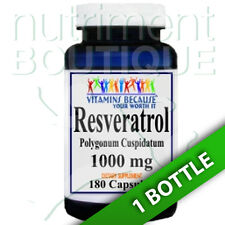 Resveratrol 1000mg 180caps (Polygonum Cuspidatum)-Vitamins Because Your Worth it