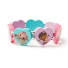 Disney Junior Doc McStuffins Bracelet Heart Tile Pastel Multi Color Lambie NWT
