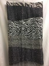 Shower Curtain Zebra Stripe Animal Print  Fabric 70x 71 WILD Black White P2