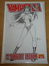 VAMPIRELLA AND THE SCARLET LEGION #2 VARIANT BILLY TUCCI SKETCH COVER DYNAMITE