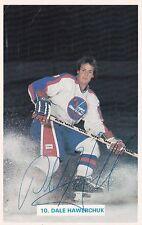 Vintage Dale Hawerchuk Winnipeg Jets Autographed Team Issue Photocard