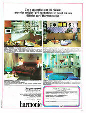 PUBLICITE ADVERTISING 094  1966  HARMONIC  meubles cuisines sdb chambres