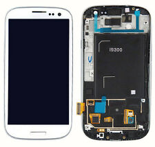 For Samsung Galaxy S3 i9300 LCD Display Digitizer Touch Screen + Frame White