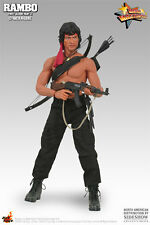 HOT TOYS 1/6 RAMBO FIRST BLOOD II MMS06 JOHN J. RAMBO MASTERPIECE ACTION FIGURE