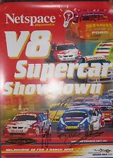 Australian Touring Car Championship Poster 2002 signed by C.Lowndes & D.Johnson
