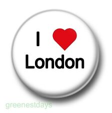 I Love / Heart London 1 Inch / 25mm Pin Button Badge England Great Britain LDN