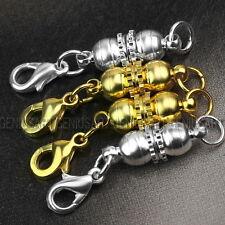 4 Moschettone Chiusura Connettore Magnetico Oro Argento DIY Collane Bracciali