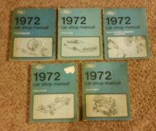 1972 FORD LINCOLN MERCURY SHOP MANUAL SET SERVICE BOOKS MUSTANG & MORE