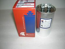 Motor Run Capacitor - 55 MFD/UF-370/440V-Round-U.L.Rated-Venti Air Prouducts-New