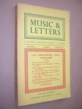 MUSIC & LETTERS. JANUARY 1969. QUARTERLY JOURNAL. OUP. J A WESTRUP