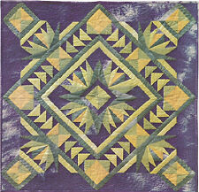 "~ NEW  QUILT PATTERN ~  2 DIFFERENT PAPER PIECED BLOCKS ~ SHOWN 30""X30"" ~"