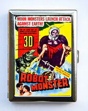 Robot Monster Cigarette Case Wallet Business Card Holder sci-fi b-movie pin up