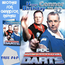 DARTS - PERSONALISED Birthday Card Son Brother Nephew Grandson