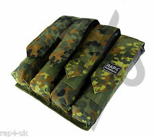 RAP4 German Flecktarn Vertical 4x MOLLE Paintball Pod Pot P90 Pouch [AK4]