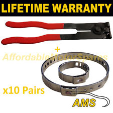 CV BOOT CLAMPS PAIR x10 EAR PLIERS x1 GARAGE TRADE PACK FITS ALL CARS KIT3.10